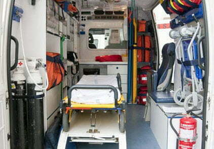 transporte de pacientes en ambulancia
