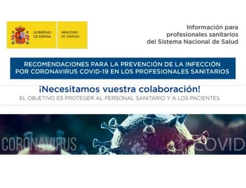 Coronavirus recomendaciones Ministerio Sanidad